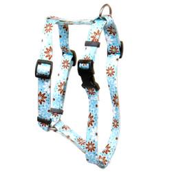 "Daisy Chain Blue Roman Style ""H"" Dog Harness"