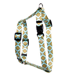 "Cleo Blue Roman Style ""H"" Dog Harness"
