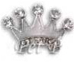 Crown Charm - Clear (10mm)