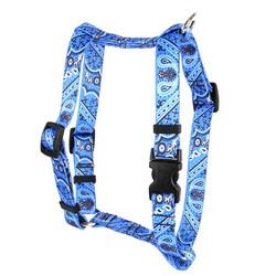 """Bandana Blue Roman Style """"H"""" Dog Harness"""