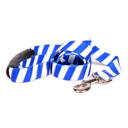 Team Spirit Royal Blue and White EZ-Grip Dog Leash