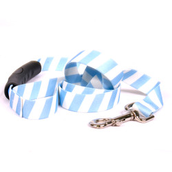 Team Spirit Light Blue and White EZ-Grip Dog Leash