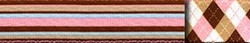 Pink and Brown Stripes  EZ-Grip Dog Leash