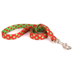 Christmas Polka Dot Dog Leash
