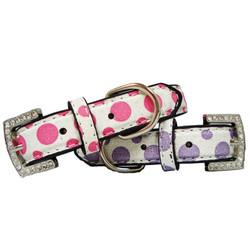 Shimmer Dots Polka Dot Dog Collar