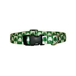 Shamrock Dog Collar with Tag-A-Long