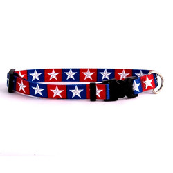 Colonial Stars Dog Collar with Tag-A-Long