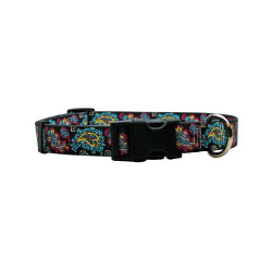 Black Paisley Dog Collar