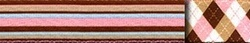 Pink and Brown Stripes Waist Walker