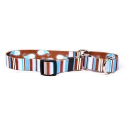 Brown Stripes Martingale Dog Collar
