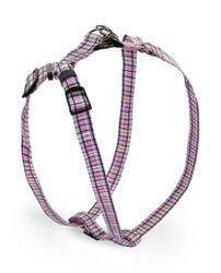 Tartan Pink Step-In Dog Harness