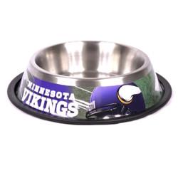 Minnesota Vikings Stainless Steel NFL Dog Bowl