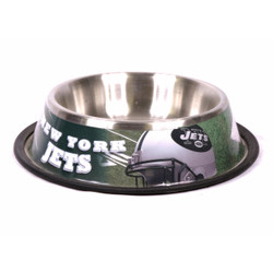 N.Y. Jets Stainless Steel NFL Dog Bowl
