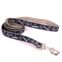Oakland Raiders Premium Grosgrain Dog Leash
