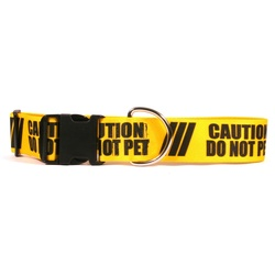 2 Inch - Caution Do Not Pet Dog Collar