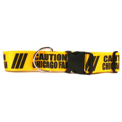 2 Inch - Caution Chicago Fan Dog Collar