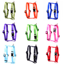 "Simple Solids Roman ""H"" Dog Harness"
