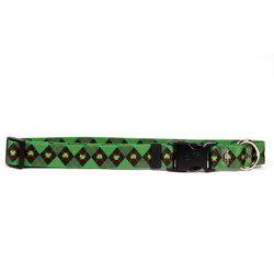 Ireland Argyle Dog Collar with Tag-A-Long