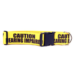 2 Inch - Caution Hearing Impaired Dog Collar