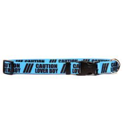 1 Inch - Caution Lover Boy Dog Collar
