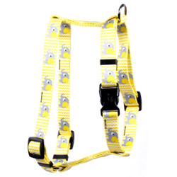 "Yellow Elephants Roman Style ""H"" Dog Harness"