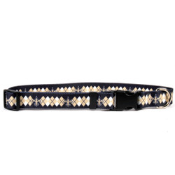 New Orleans Saints Argyle Dog Collar