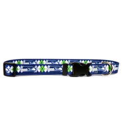 Seattle Seahawks Argyle Dog Collar