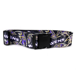 Baltimore Ravens 2 Inch Wide Dog Collar
