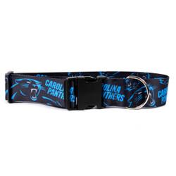 Carolina Panthers 2 Inch Wide Dog Collar