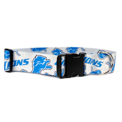Detroit Lions 2 Inch Wide Dog Collar