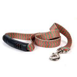 Christmas Chevron Stripe EZ-Grip Dog Leash