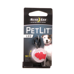 PetLit Red Hydrant Dog Collar Light