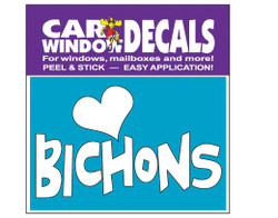 Love Bichons Car Window Decals