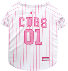 Chicago Cubs PINK MLB Pet Jersey
