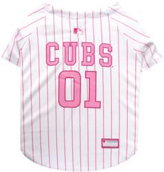 Chicago Cubs PINK MLB Pet Jersey