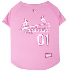 St. Louis Cardinals PINK MLB Pet Jersey