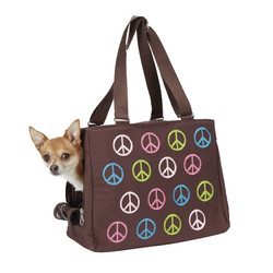 Peace Signs Pet Carrier - Teacup Size **Clearance**