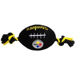 Pittsburgh Steelers NFL Squeaker Football Toy