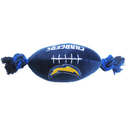 San Diego Chargers NFL Squeaker Football Toy