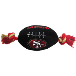 San Francisco 49ers NFL Squeaker Football Toy