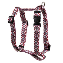 "Aztec Red Roman Style ""H"" Dog Harness"