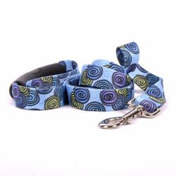 Spirals Blue EZ-Grip Dog Leash