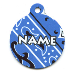 Bandana Blue HD Pet ID Tag