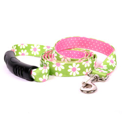 Green Daisy Uptown Dog Leash