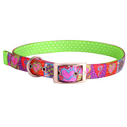 Crazy Hearts Uptown Dog Collar