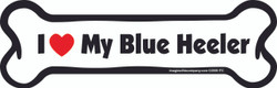 I Love My Blue Heeler Bone Magnet