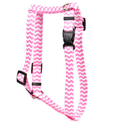 "Chevron - Watermelon Roman Style ""H"" Dog Harness"