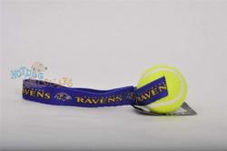Baltimore Ravens  Tennis Ball Tug Dog Toy