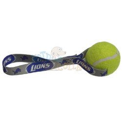 Detroit Lions  Tennis Ball Tug Dog Toy