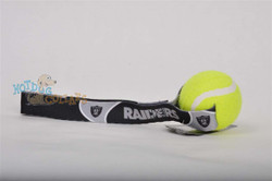 Oakland Raiders  Tennis Ball Tug Dog Toy